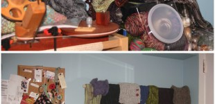 shawl storage, my current solution