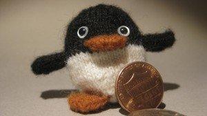 knitted penguin testing