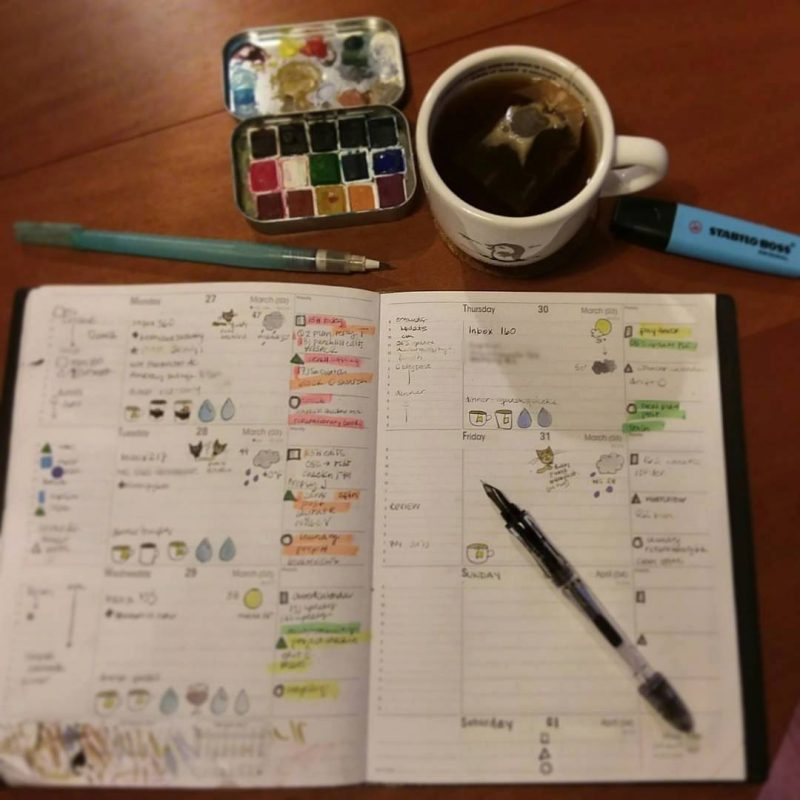 on pens and planning