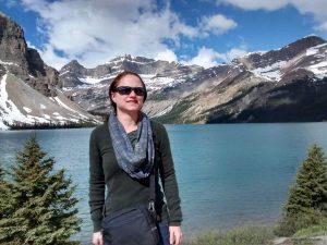 Side Kick at Bow Lake, Banff National Park