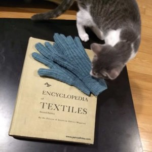 "Houldsworth Glove & Foster Kitten on book ""Encyclopedia of Textiles"""