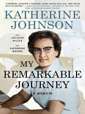 cover: My Remarkable Journey. An early to mid-career Johnson shown with a paper collage in the background, some showing graphs and formulas.